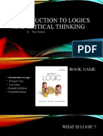 Introduction to Logics and Critical Thinking Slides