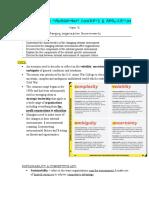 Changing Organization environments