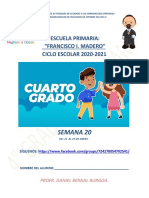 planeación cuarto grado de primaria SEMANA veinte