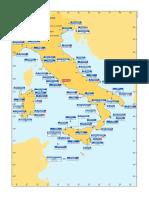 Mappa stazioni costiere