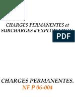 Charges permanente et d'exploitation