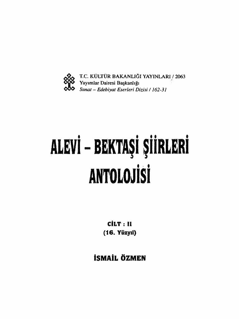 2 Alevi Bektashi Shiirleri Antolojisi 2 Qapiq 16 Yuzyil Ismayil Ozmen 1998