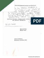 Matematizarea psihologiei consonantiste de Marcel și Ileana Voica