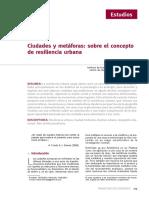 ciudades y metaforas sobre el concepto de resiliencia urbana