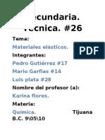 trabajo de quimica materiales  sinteticos