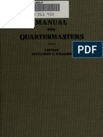 Manual for the Quartermasters Department 1916