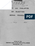 Summary and Evaluation of Air Objectives on the Iberian Peninsula ASSISTANT CHIEF of AIRSTAFF, Intelligence May 15 1943