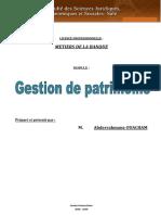 Pr Ouacham Cours Gestion de Patrimoine