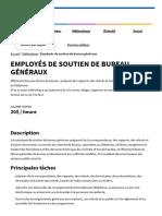 Employés de Soutien de Bureau Généraux - Emploi d'Avenir