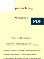 Hypothesis testing and ANOVA