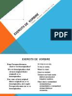 EXERCITII DE  VORBIRE pp
