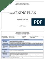 Learning Plan Grade 5 Arts