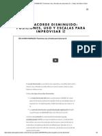 El ACORDE DISMINUIDO_ Posiciones, Uso y Escalas para Improvisar