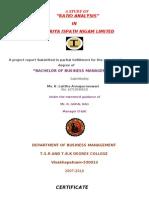 Ratio Analysis IN VISHAKA STEEL PLANT 2011