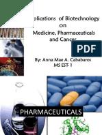 applicationsofbiotechnologyonmedicine-130701085315-phpapp01