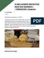 UMAS DAS MELHORES RECEITAS COM FRANGO DO MUNDO   FRICASSÊ CREMOSO   Gabriel Frei