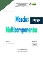 MEZCLAS MULTICOMPONENTES
