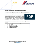 Informe Inspeccion de Almacenamiento y Manejo - Surtiretenes Zipaquira
