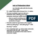 Synthesis of Potassium Alum