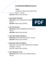 COLEGIOS DE PRIMARIA EN CALLAO