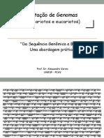 Anotação de Genomas  2021