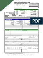Formato de registro sanitario
