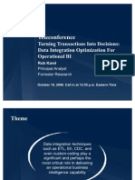 Turning Transactions Into Decisions-Data Integration Optimization For Operational BI