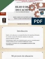 PRESENTACIÓN-EMILIO O DE LA EDUCACIÓN COMPLETO
