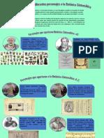Infografía Sobre El Aporte de Diferentes Personajes en El Desarrollo de La Botánica Sistemática.