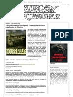 Mundo Tentacular_ Especialidades do Investigador - Uma Regra Opcional para Rastro de Cthulhu