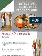 2.- ESTRUCTURA SOCIAL DE LA ÉPOCA COLONIAL