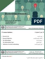 AR521-Lec 2(Fundamentals of Research )-SEP2020