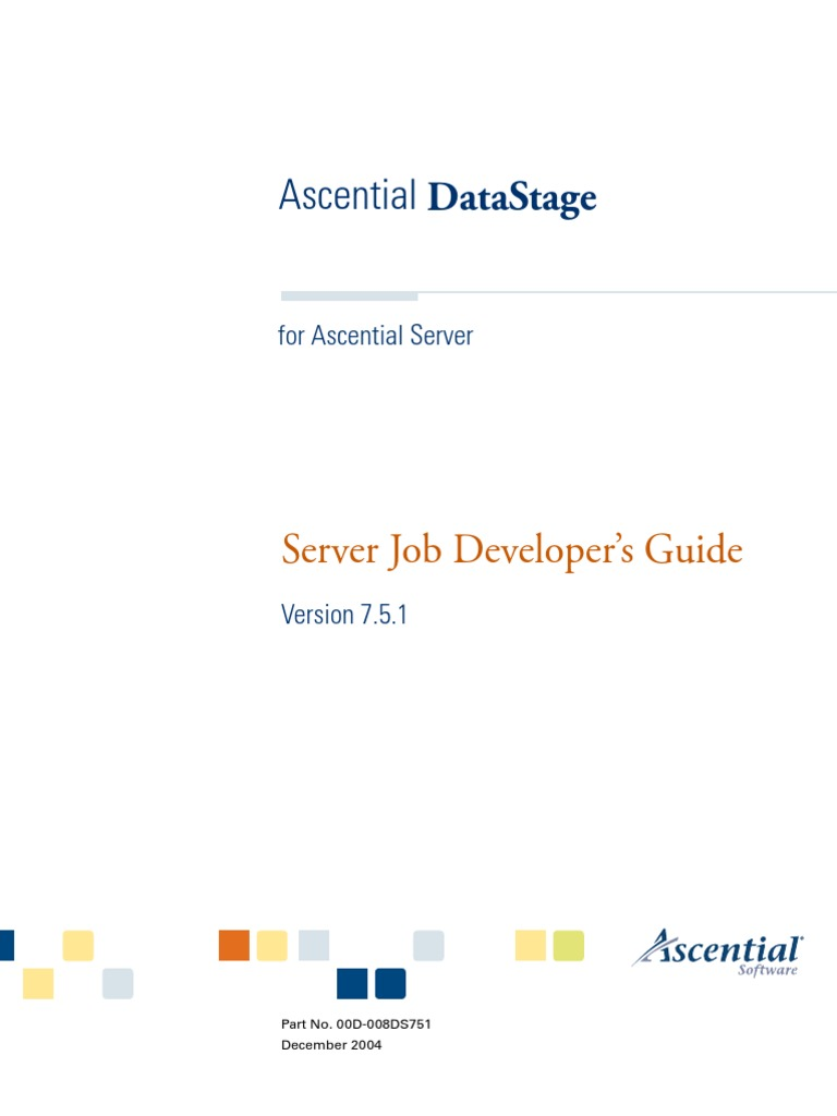 Datastage parallel job advanced developers guide | portable.