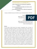 Desafios e estratégias para a organização do setor de saúde frente à pandemia