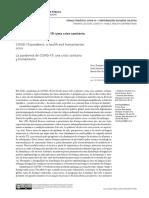 29_10_A pandemia de COVID 19 uma crise sanitária e  humanitária