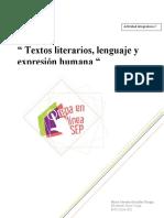 """""""textos literarios, lenguaje y expresión humana"""""""