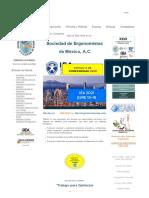 Sociedad de Ergonomistas de Mexico, A.c. - Ergonomia - Bienvenidos Al Sitio Web de La
