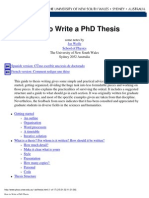(ebook) how to write a phd thesis