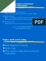 Sales forece management
