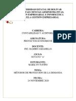METODOS DE PROYECCIÓN DE LA DEMANDA