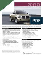 2009 dodge durango brochure