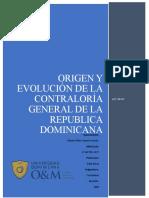 Origen y Evolución de la Contraloría General de la Republica Dominicana- Maria Esther