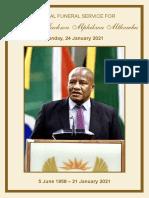 Official Funeral - Of Minister Jackson Mphikwa Mthembu (1)