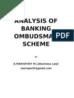 analysis of the banking ombudsman scheme
