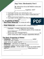 Notes - Biochemistry