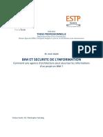 Thèse - BIM Et Sécurité de l'Information