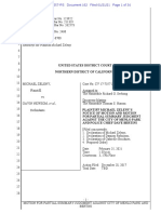 United States District Court, Northern District of California, Case No. CV 17-7357 JCS, Michael Zeleny v. Gavin Newsom, et al.  — MSJ
