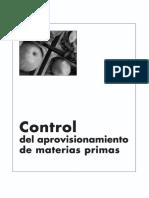 Libro Control Del Aprovisionamiento de Materias Primas