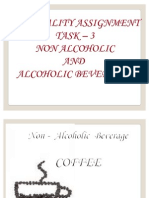 NON ALCOHOLIC AND ALCOHOLIC BEVERAGES