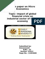 Term paper on Micro Economics